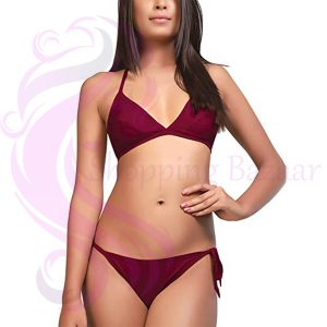 Silk Satin Triangles Bikini Set Women | Best online shopping website in pakistan