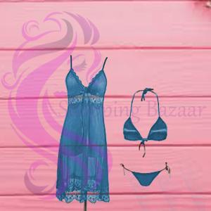 Babydoll Transparent Hot Nightwear Bikini Set | Online shopping bazaar In Pakistan for buy Ladies Undergarments Online From Best Shopping Site In Pakistan
