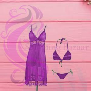 Flourish Short Nighty Bikini Set Women | Best Online Shopping Store For Ladies wear