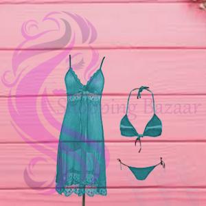 Hot Transparent Nightwear Bikini Set Women | Best Shopping Site In Pakistan
